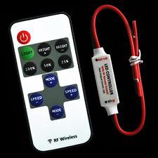 MINI Funk Einfarbig LED Controller Dimmer RF Wireless Fernbedienung Streifen~