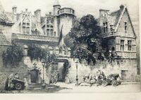 CHarles Pinet, French 1867-1932, etching 8 x 11