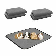 """Guinea Pig Cage Liners, 2 Packs Hamster Bedding Washable and Reusable 18""""*24"""""""