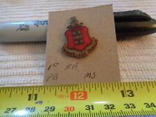 1st Field Artillery Meyer Shield Unit Crest, DI, DUI Pinback (DRAW#A9)