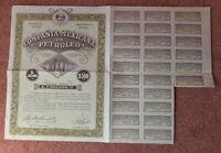 Compania Mexicana De Petroleo SA -  Share Certificate - Dated 1929