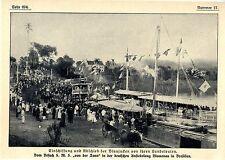 S.M.S von der Tann zu Besuch in der deutschen Ansiedlung Blumenau Brasilien 1911
