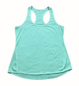 Athleta Tank Top Green Blue Racerback Polyester Workout Size Medium