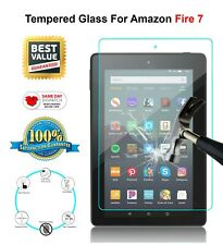 For Amazon Fire 7 Tempered Glass NEW HD Tablet Screen Protector 9H Hardness
