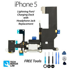 NEW iPhone 5 Charging/Lightning Dock/Port + Headphone Jack with Tools - WHITE