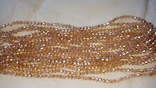 Joblot 10 strings (1200 beads) 4mm Gold Champagne  bicone Crystal beads new