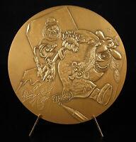 Medal Albert Dubout Madmae Anatole Sparadra Raymond Joly Cartoonist 1974