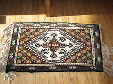 "Turkish Area Rug 22"" wide x 41.5"" long x 1/2"" tall Gray, Brown, Black, Brown"