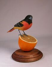 Baltimore Oriole Original Bird Wood Carving/Birdhug
