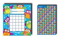 36 hibou mini classe incitation tableaux + 800 assorti mini hibou reward stickers