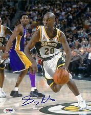 Gary Payton Signed Sonics 8x10 Photo PSA/DNA COA Autograph SuperSonics Picture
