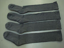 NWOT Women's Over The Knee Cotton Blend Socks One Size  4 Pair Grey #170A