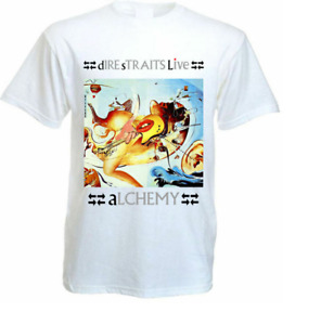 Dire Straits - Alchemy T-shirt white poster all sizes S to 5XL