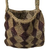 Natural Bush Vines Patterned  Hand Woven Bilum Bag from Papua New Guinea
