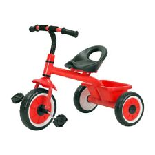 Munchkin Kids Tricycle with Rear Toy Storage 10 Inch Wheels Sunlite Red Bike