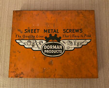 Vintage Dorman Products Sheet Metal Screws Compartmental Storage Box Made In USA