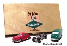 Piccolo Set 90 Jahre Audi Limited Edition Auto Union C + zwei DKW Schuco NEU&OVP