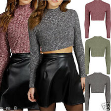 Long Sleeve Casual Crop Tops for Women