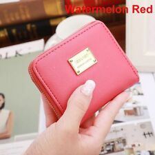 Fashion Women PU Leather Small Wallet Card Holder Zip Coin Purse Clutch Handbags Watermelon Red