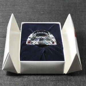 Swarovski Antonio Plaque Ornament Dance Annual Edition Silver Crystal 2003