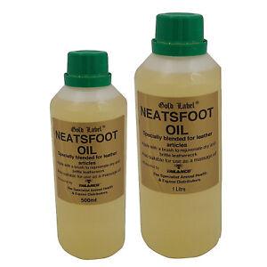 GOLD LABEL NEATSFOOT OIL - 500ml or 1 litre - Rejuvenates Leather