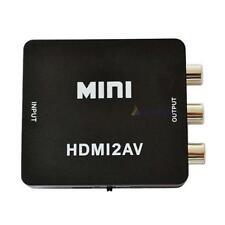 HDMI RCA Audio Vidéo Composite AV CVBS adaptateur convertisseur 1080p Noir DC