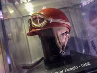 Helmet Collection Juan Manuel Fangio 1952 Argentina Rare Scale 1:5 New +Magazine
