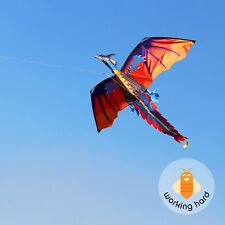 DRAGON KITE KIDS Toy Fun Outdoor Flying Activity Game Children With Tail