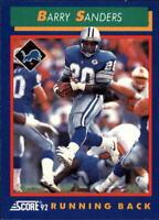 1992 Score Football Card #s 1-200 +Rookies (A2226) - You Pick - 10+ FREE SHIP