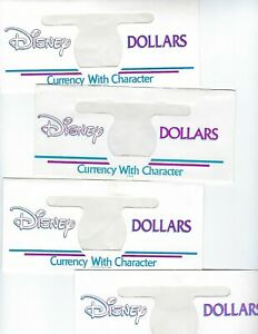 DISNEY DOLLARS 4 ENVELOPES  NO CURRENCY  LOT 4 PCS UNC
