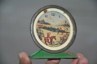 Vintage File Litho Baby Doll House Tin Clock Toy, Japan?