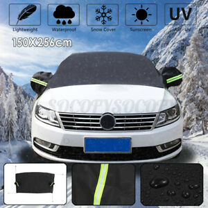 Car Windshield Snow Cover Sun Shade Winter Ice Dust Frost Guard W/ Mirror Cover