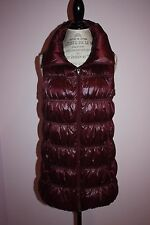 NWT Womens $398 Eileen Fisher Funnel Neck Burgundy Down Vest Size Large