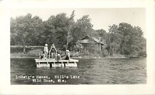 The Girls On The Raft, Ludwig's Haven, Hill's Lake, Wild Rose Wisconsin WI RPPC