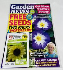 Garden NEWS Magazine May 2021 With 2 PACKS OF SEEDS WORTH £5.08! NEW