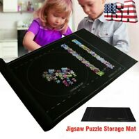 US 24*46 inch Jigsaw Puzzle Storage Mat Roll Up Puzzle Felt For Up To 1500pcs