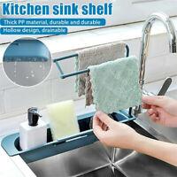Telescopic Sink Rack Holder Adjustable Soap Storage Drain Basket Kitchen Home