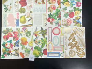 Lot Of 75 Anna Griffin Vintage Die Cut Embellishments Card Making Scrapbooking