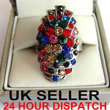 Versilberte Modeschmuck-Ringe mit Kristall