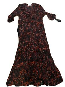 By Malene Birger Floral  Detail Evening Gown - Size 36/UK10 Rrp £400