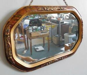 F2 Quality 1930s Art Deco Large Oval Form Wall Frame Convex Glass