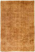 "Hand-knotted Turkish Carpet 8'6"" x 12'5"" Antalya Vintage Traditional Wool Rug"