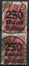Germany SG#292, 250T On 500m Pink Used Pair #A85088