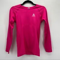 Odlo Fuchsia Pink Seamless Athletic Running Top Small