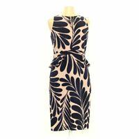 Ann Taylor Women's Dress size 8,  blue/navy, beige,  polyester,  good condition
