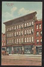 POSTCARD ERIE PENNSYLVANIA PA LIEBEL HOTEL & BUSINESS STORE FRONTS 1907