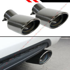 FOR 2016-18 HONDA CIVIC TITANIUM BLACK CHROME MUFFLER EXHAUST TIP FINISHERS X 2