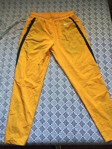 Nike Dri Fit Men's Lightweight Running Pants Yellow