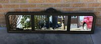 Antique Sectional Panel Mirror Buffet Mantle Wall