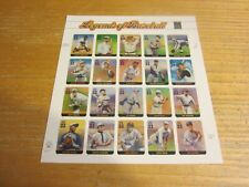 USA United States 2000 Scott #3408 .33 Legends of Baseball Pane 20 Mint Stamps